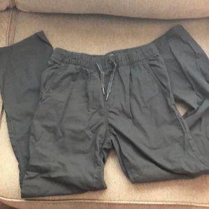 Boys, elastic waist, grey pants